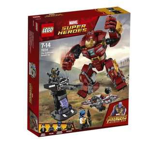 15% off everything in The Biggest Toy Store / eBay including all Lego eg LEGO Marvel Super Heroes 76104 Avengers Infinity War The Hulkbuster Smash-Up £25.49