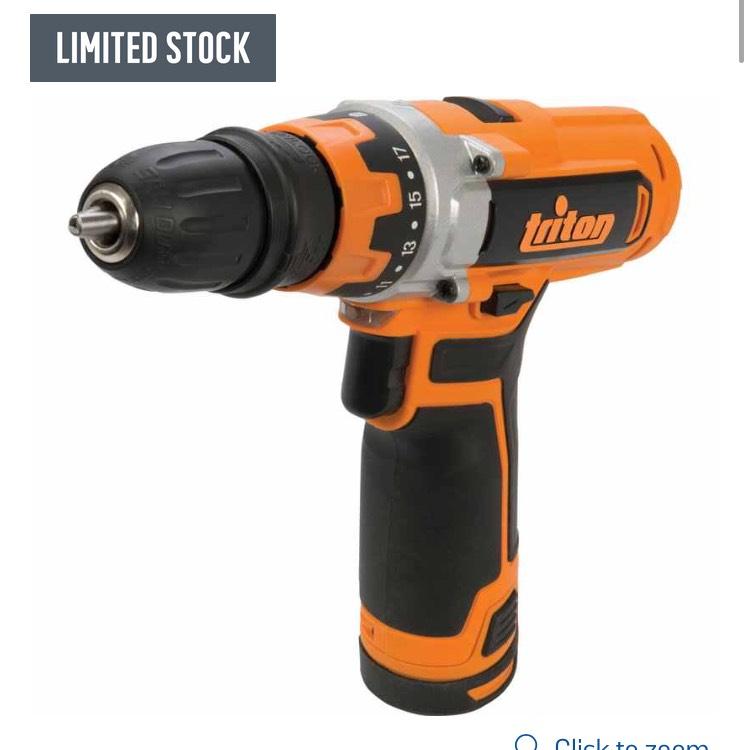 Triton T12DD Cordless Drill Driver 12V £62.99 @ Argos