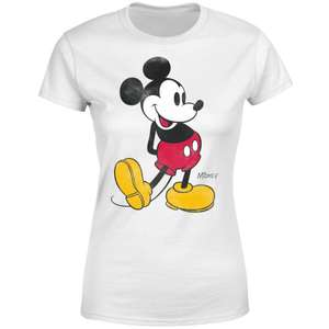 Disney Mickey Mouse Classic Kick Women's & Mens T-Shirts - White now £9.99 delivered @ MyGeekBox