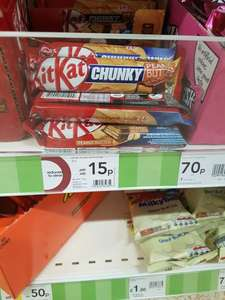 Kit Kat chunky peanut butter 15p each at wilko