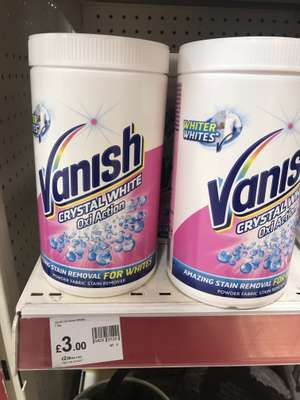 Vanish Crystal White 1.5kg Oxi Action in store @Wilko £3