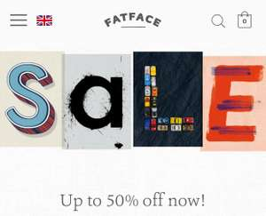FatFace sale now live! Up to 50% off!