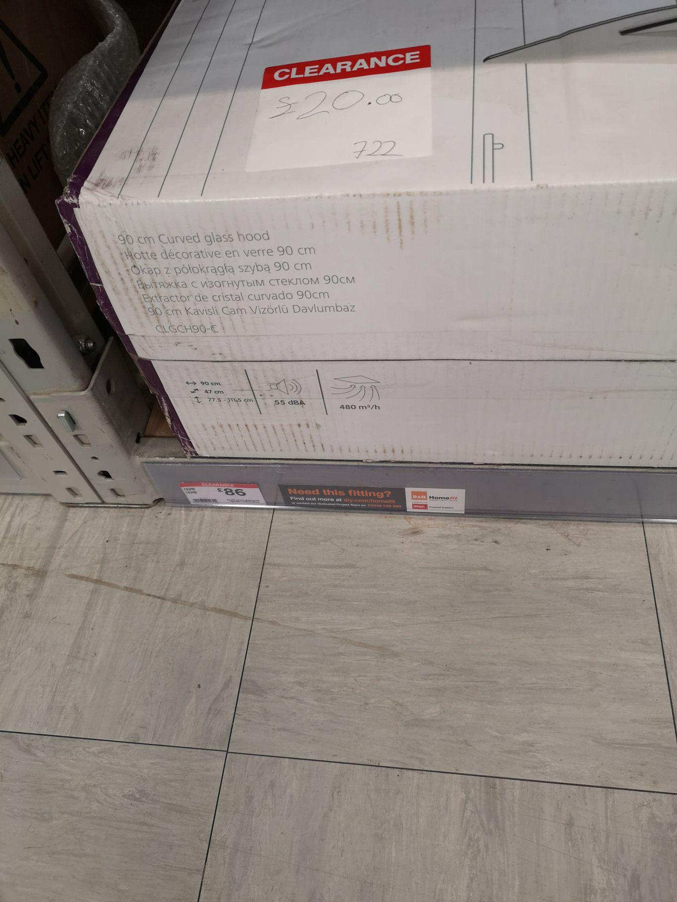 Hob extractor fan - £20 instore @ B&Q (Kendal)
