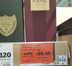 Krug Grand Cuvee Champagne £90.45 (£44.55 reduction) instore @ Sainsbury's. Found Cambridge, may be national