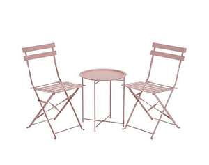 Maya Tray Bistro Set - Pink £44 at Fashion World