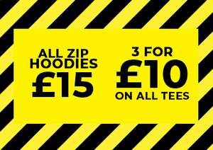 All T-Shirts 3 for £10 + 10% off w/c + £3.95 for delivery @ Saltrock