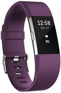Fitbit Charge 2 Heart Rate and Fitness Wristband -Plum Large  £100.76 - @ amazon