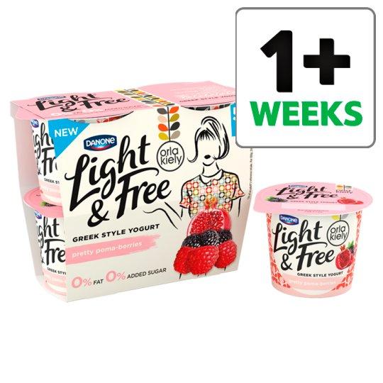 Danone Light And Free Pomaberry Yogurt 4X115g now £1.25 Tesco