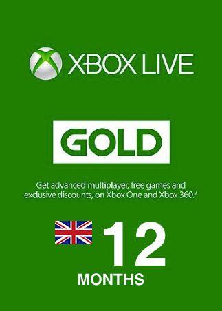 12 Months Xbox Live gold £28.49 @ G2A