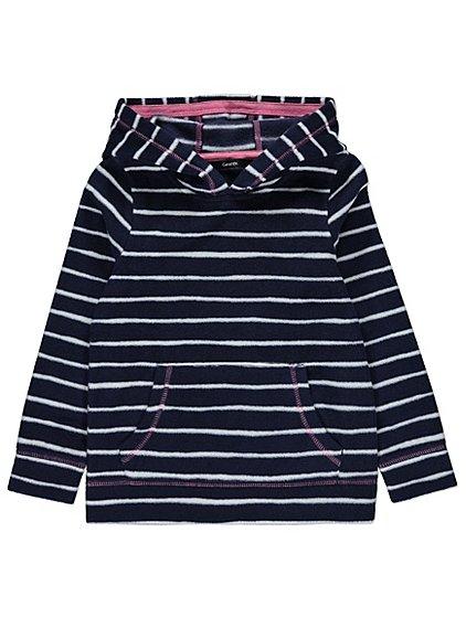 girls fleece lined striped hoodie age 5-6 yrs £3 @ Asda