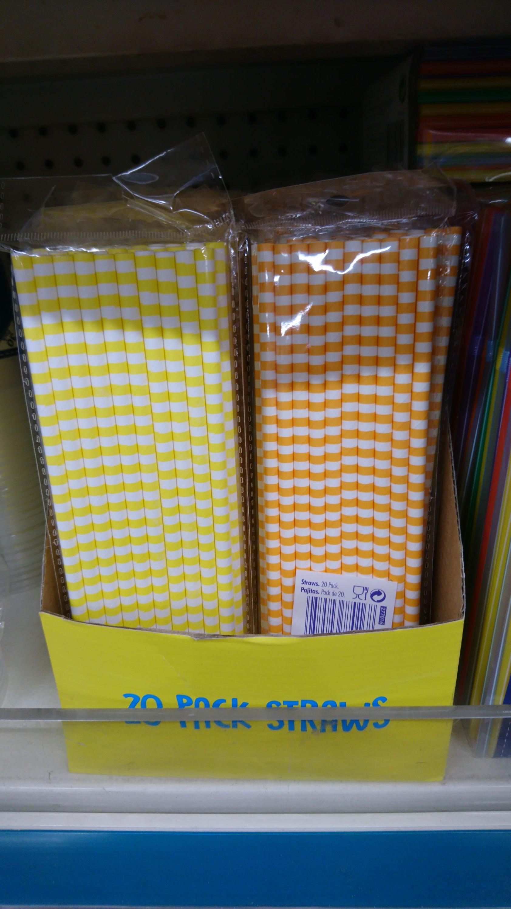 Paper straws x20 £1 @ poundland
