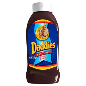 Daddies sauce red or brown 650 gr £1 instore @ poundland