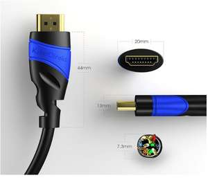 £4.80 voucher for KabelDirekt 10m HDMI Cable - TOP Series £6.89 prime / £11.38 non prime @ Amazon