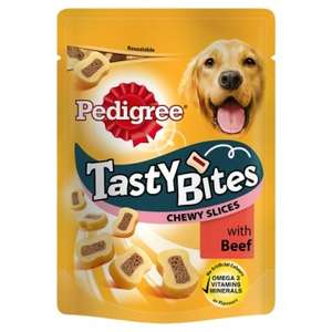Pedigree Tasty Bites Chewy Slices With Beef 155g £1 @ Poundland