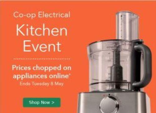 Co-op Electrical Kitchen event, various discounts check description!