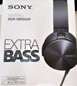 New Sony MDR-XB950AP Xtra Bass Overhead Headphones - Grey - £40.49 @ mandesales2017 eBay