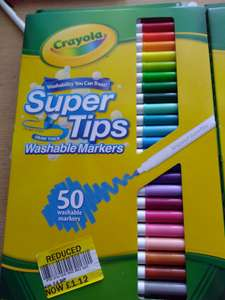 Crayola 50 Supertips Washable Markers £1.12 instore at Tesco