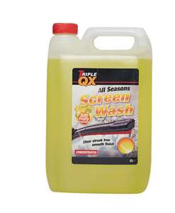 TRIPLE QX -7c All Season Screenwash (Tutti Fruity Fragrance) - 5ltr £2.31 @ car parts for less