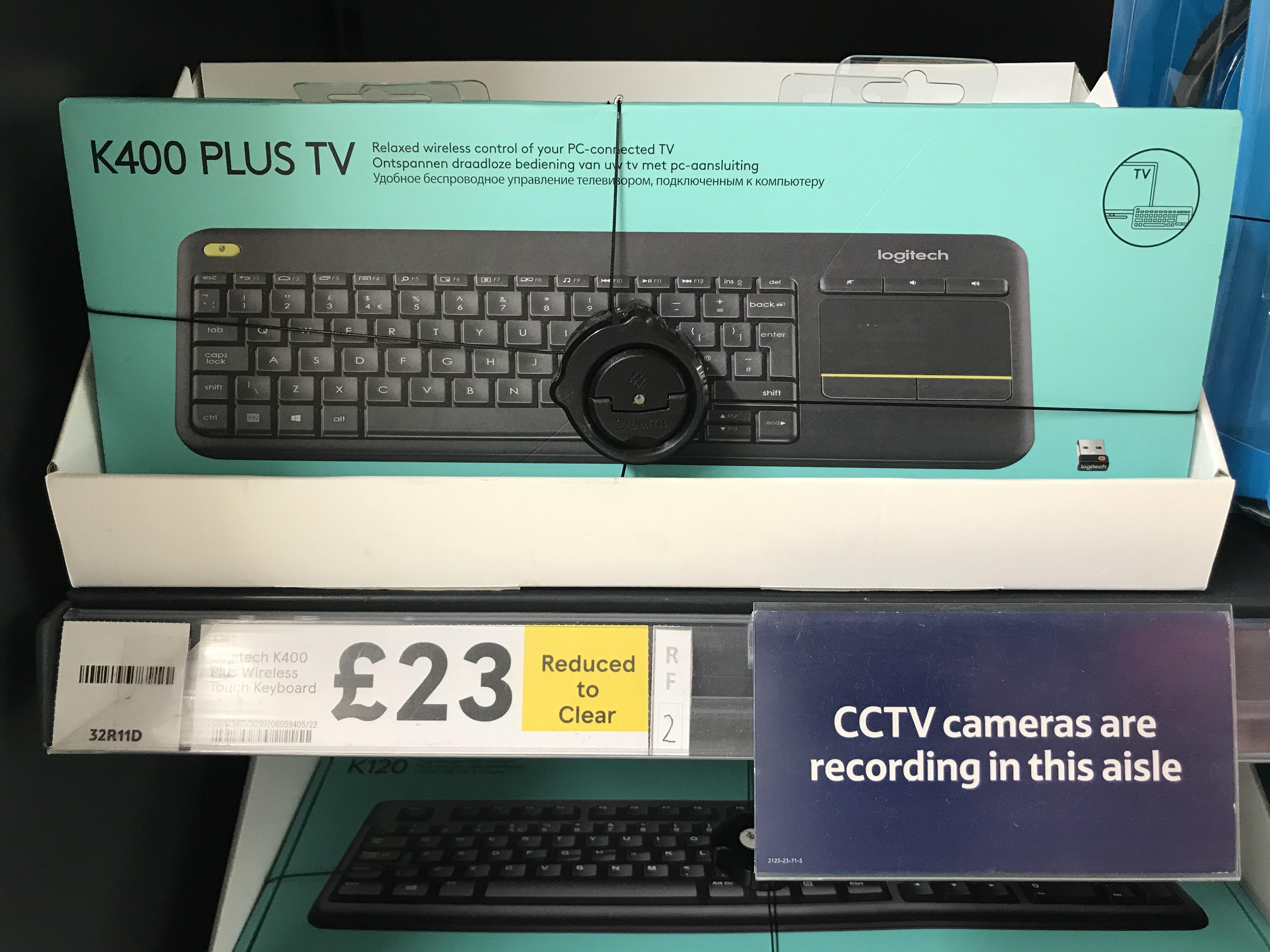 Logitech K400 Plus TV £23 @ Tesco extra Redruth
