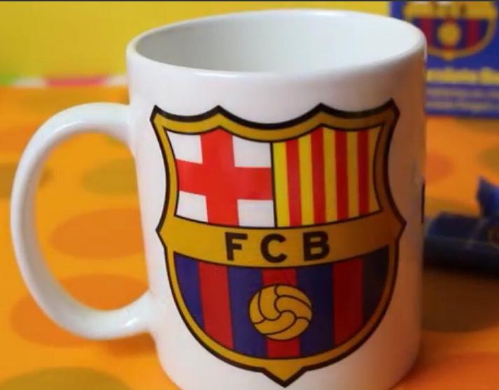FC Barcelona Ceramic Mug and Keyring set only £1 Fultons