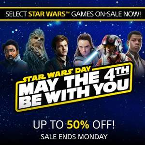 Star Wars May The 4th Be With You SALE at PlayStation PSN Store US* Battlefront 2, LEGO Star Wars The Force Awakens, Super Star Wars and MORE *PS4 PS3 PS Vita and PSP Games added*