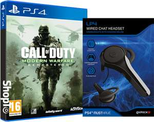 Call of Duty - Modern Warfare Remastered and Headset £14.86 @ Shopto