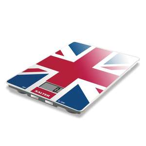 Amazon: Salter Union Jack Kitchen Scales – Digital Electronic Weighing @ £5 for Prime/£8.99 for Non-Prime Sold by FKA Brands and Fulfilled by Amazon.