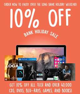 10% off all refurbished tech and pre-owned games at music magpie