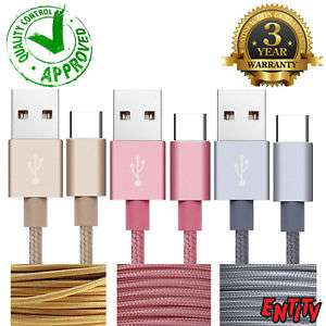 3m Braided Micro USB Fast Charging/Data Cable @ eBay (seller@ entitytradepark) - £2.99