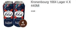 Cool yourself with a Beer - San Miguel 4X440ml    or   Kronenbourg 1664 Lager 4 X 440Ml @ Asda