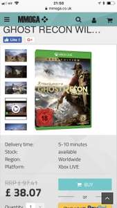 Xbox one Ghost recon wildlands gold edition download code £38.07 @ MMOGA