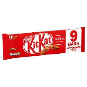Kit Kat 2 Finger(Milk Chocolate & other Flavours) 9 Pack (186.3g) Was £1.99 Now £1 @ Tesco