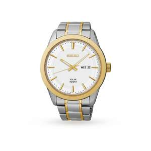 Seiko Solar Mens Watch (Model Number: SNE364P1) £95 Goldsmiths (RRP £199)