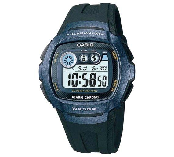 Casio Men's LCD Digital Blue Case Black Strap Watch for £9.99 @ Argos