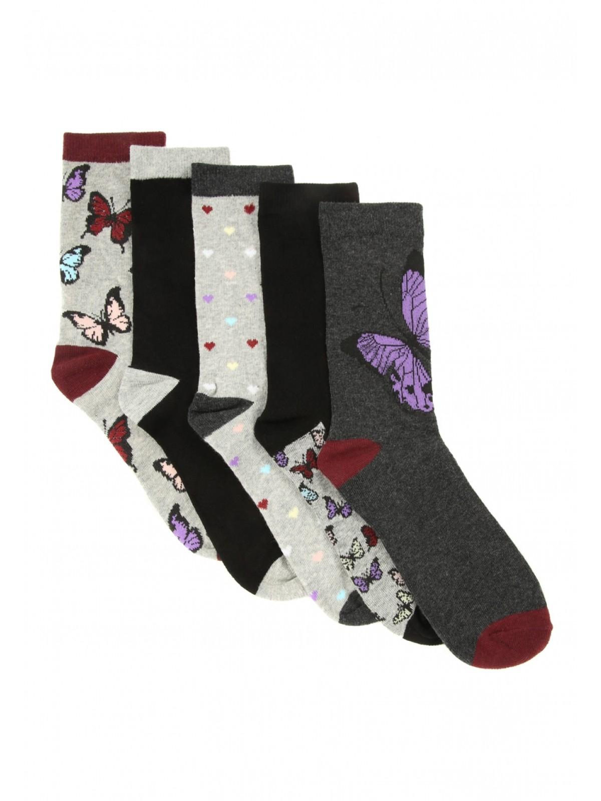 Womans 5 pack socks (various designs) £3.00 (was £6.00) @ Peacocks - Free C+C
