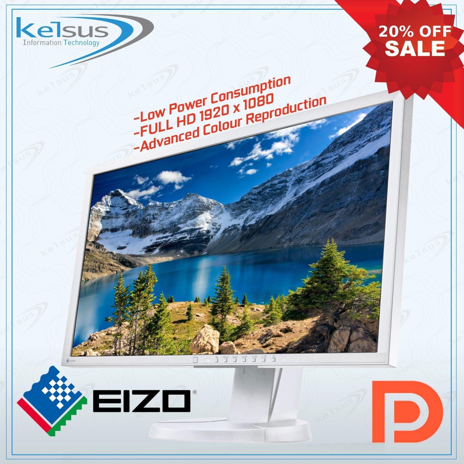 """REFURB Eizo 23"""" AH-IPS monitor 1080p VGA/DVI/DP - £60 @ eBay / kelsusit"""