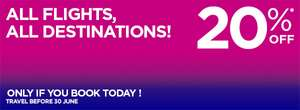 WIZZ Air - 20% ALL flights and ALL destinations