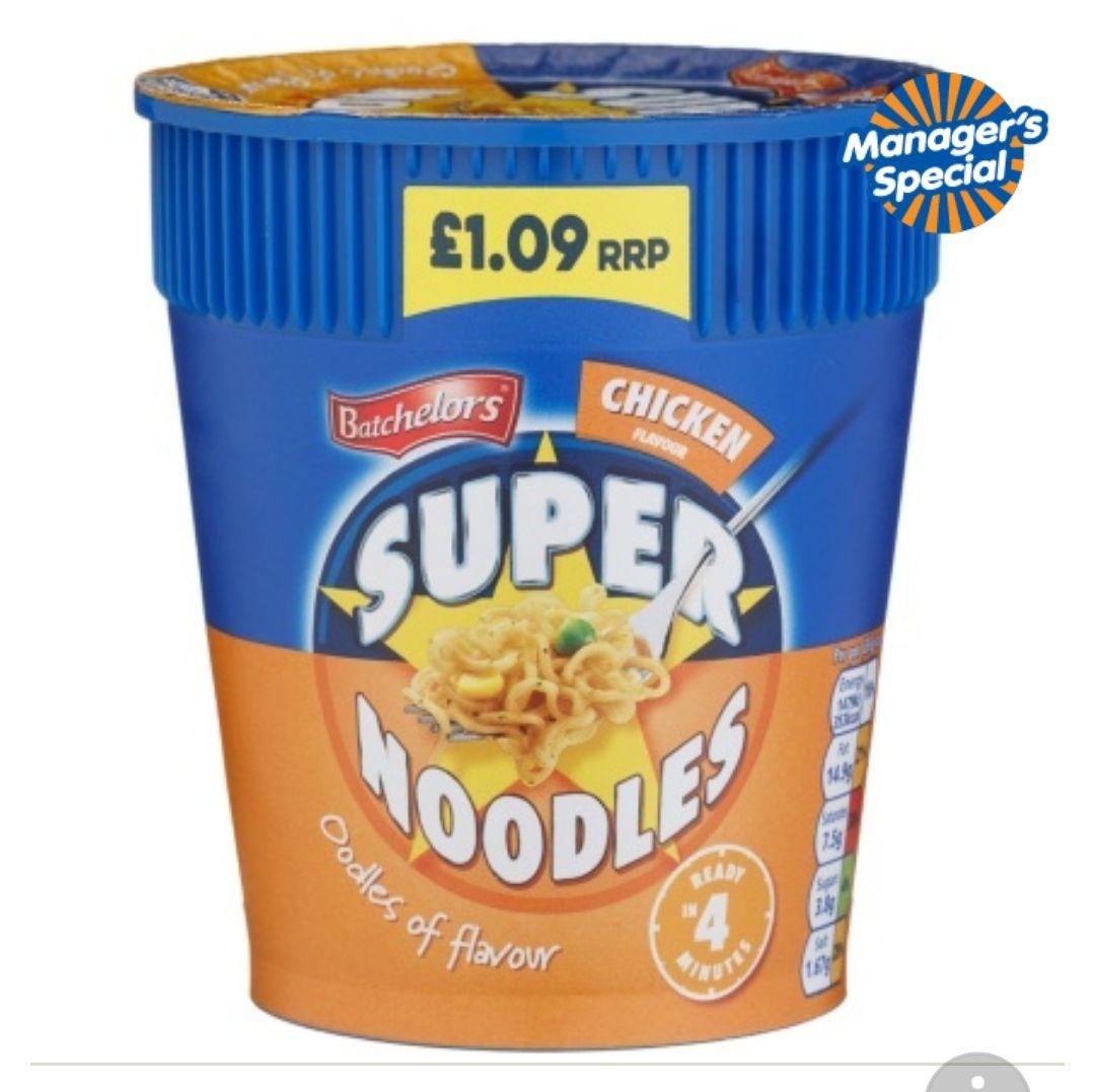 Batchelors  Super Noodles 75g - 50p at B&M