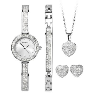 Sekonda-Ladies silver gift set £57.60 with code TR36 + Free Delivery at Debenhams