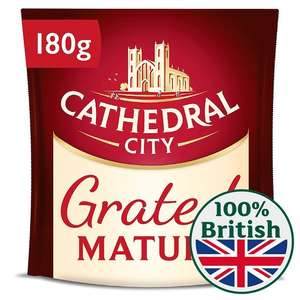 180g Cathedral City Grated Mature Cheese & 150g  Cathedral City 8 Slices Mature Cheese (Full Fat & Lighter)  now £1 @ Morrisons (instore & online)