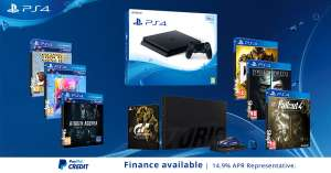 PS4 Slim 500GB Black (or white) Console with Gran Turismo Sport Collectors Edition, Doom, Fallout 4, Dishonored 2, Hidden Agenda, Singstar Celebration & That's You - £249.95 - Shopto (Add GoW for £29.86)