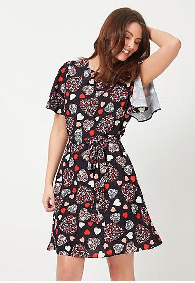 George Ladies Heart Print Dress Sizes 8-20 £5