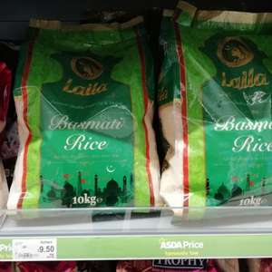 Laila basmati rice 10kg £9.50 at Asda
