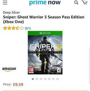 Sniper: Ghost Warrior 3 Season Pass Edition (Xbox One) £9.51 and  Evil Within 2 - Xbox One £8.91 @ Amazon prime now - (£3.99 delivery)