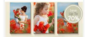 Up to 70% off photo canvas different frame sizes available @ Printerpix