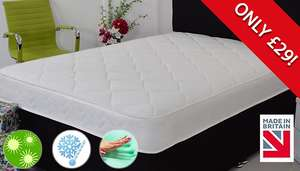 Hypoallergenic Memory Foam Sprung Mattress - 3 Sizes From £48.98 Delivered @ Go groopie/The Sleep People