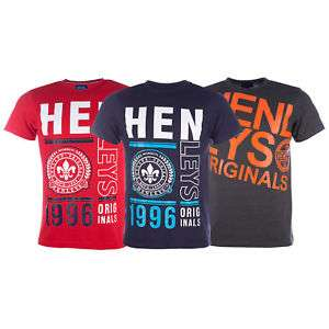 Mens Henleys Mens Block T-Shirt @ Get The Label - Ebay £7.94 Delivered