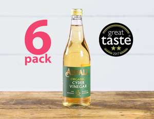 Aspalls Organic Cyder Vinegar 500 ml (Pack of 6) - only £1.89 Delivered with Subscribe & Save / £1.99 Add-on Item @ Amazon