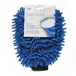 Wilko Microfibre Car Wash Mitt 2 in 1 - £1.75 @ Wilko (C&C)