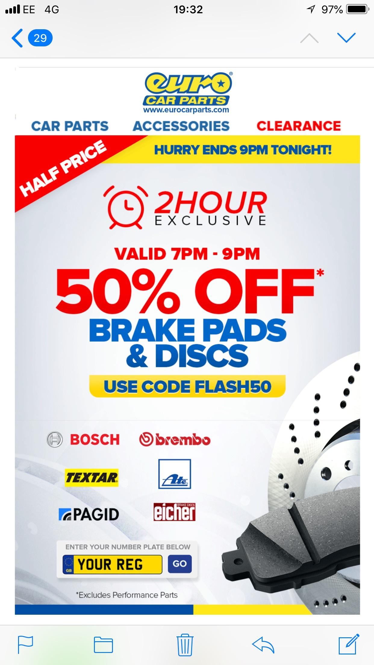 50% Discount @ Eurocarparts